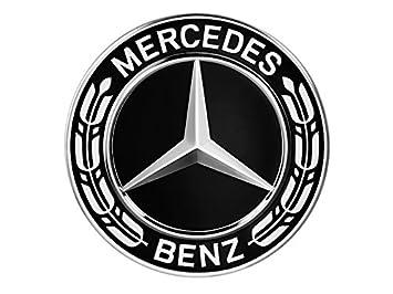 Embellecedor de llanta Mercedes Benz con estrella y corona de laurel, negro: Amazon.es: Coche y moto