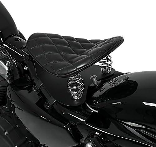 Selle si/ège solo SG15 noir pour Harley Davidson Sportster 883// Custom//Hugger//Iron//Superlow//Low//R Roadster Sportster Forty-Eight 48// Seventy-Two