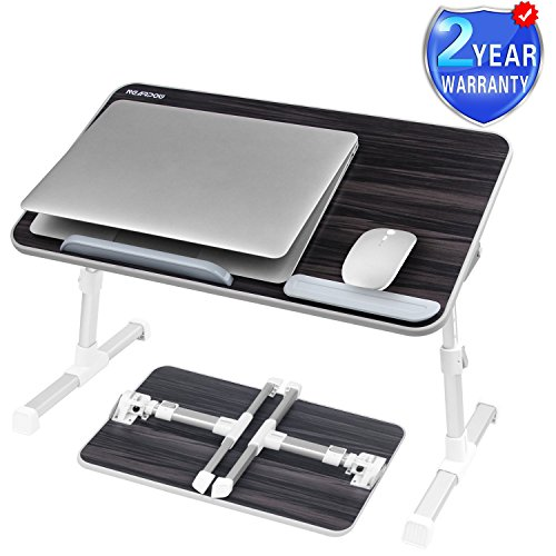 Laptop Bed Tray Table, Nearpow Adjustable Laptop Bed Stand, Portable Standing Table with Foldable Legs, Foldable Lap Tablet Table for Sofa Couch Floor - Medium Size by NEARPOW