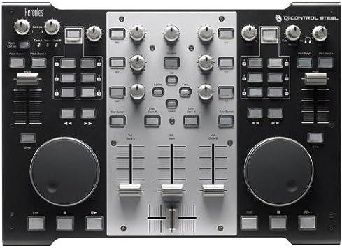 Hercules DJ Control Steel - Mezclador para DJ (Mac OS X 10.4 Tiger, Mac OS X 10.5 Leopard, Mac OS X 10.6 Snow Leopard, 350 x 252 x 68 mm): Amazon.es: Electrónica