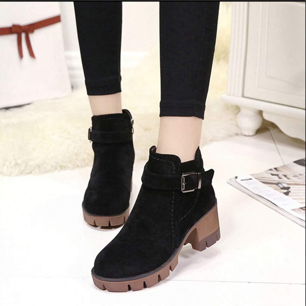 Stiefeletten Mode Einfach Schnalle Komfortable High Heels Heels Heels Büro Dame Schuhe Für Frauen 91897a