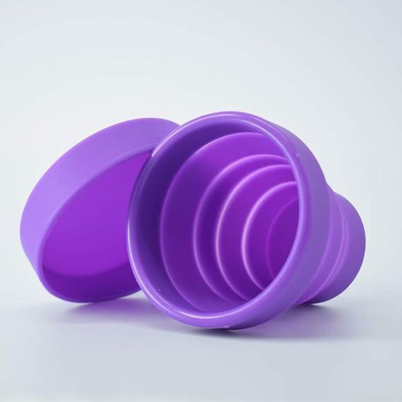 Clemars- Copa Menstrual Kit Suave de silicona 2 Copas en Talla S y L Esterilizador de Silicona Lavable Dura 12 Horas 20ml y 25 ml copa comoda facil de ...