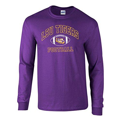 - Elite Fan Shop LSU Tigers Long Sleeve Tshirt Football Arch Purple - M