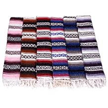 Yogavni(tm) Traditional Mexican Yoga Blankets - Assorted Colours