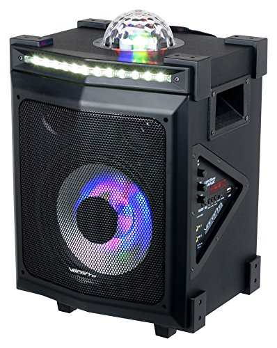 VOCOPRO LIGHTSHOW-MAGIC Bluetooth Karaoke Pa System With 3-In-1 Light Show