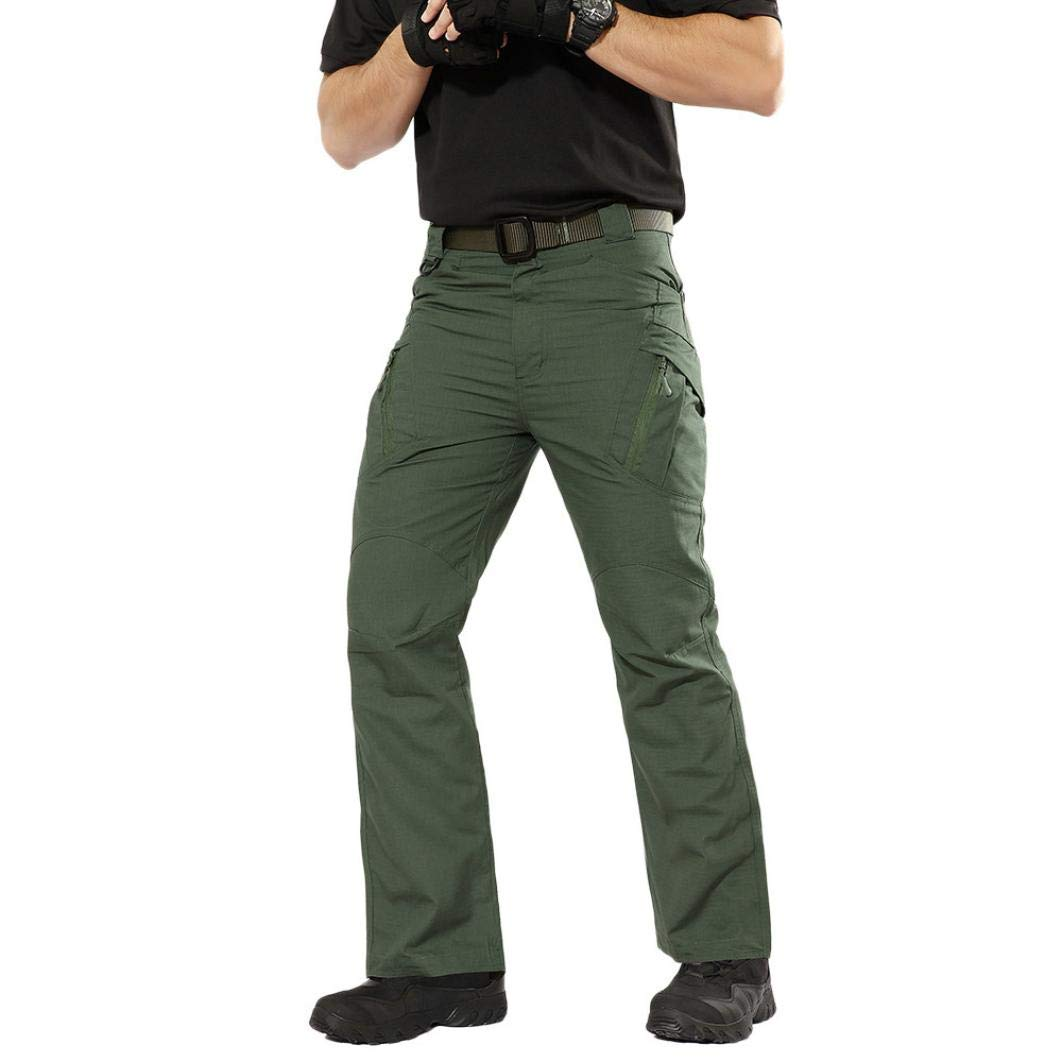 Realdo Hot!Clearance Sale Mens Daily Casual Solid Straight Outdoors Work Trousers Cargo Pants(XXXXX-Large,Army Green)