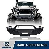#6: Hooke Road Jeep Wrangler JK Blade Front Bumper w/Winch Plate & 2 x 18W LED Fog Lights for 2007-2018 Jeep Wrangler JK & JKU