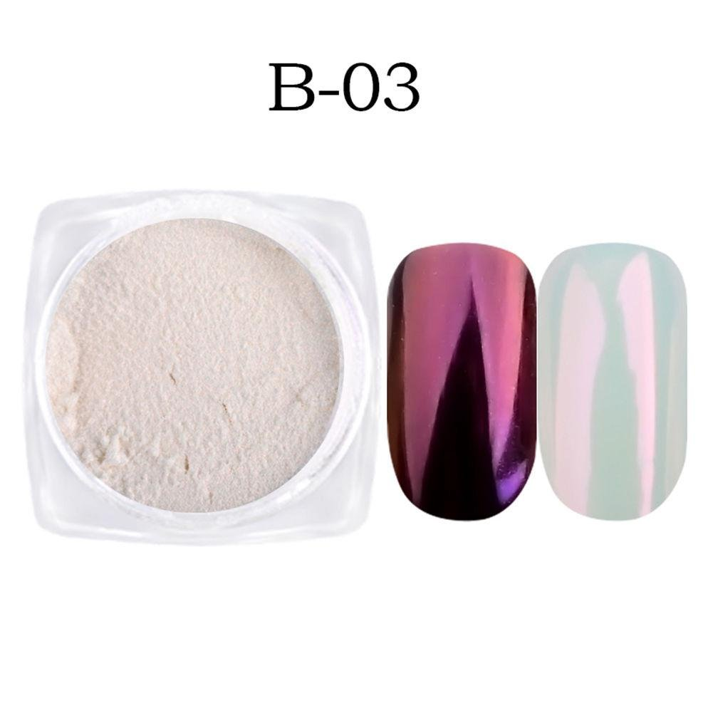 Ownsig 1g/box Shell Metallic Nail Mirror Powder Glitter Chrome Pigment Dust Manicure Nail Art Decorations