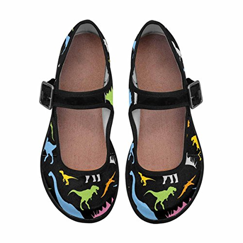 Comfort Walking Shoes Mary Flats 9 InterestPrint Multi Jane Casual Womens HB6nqF