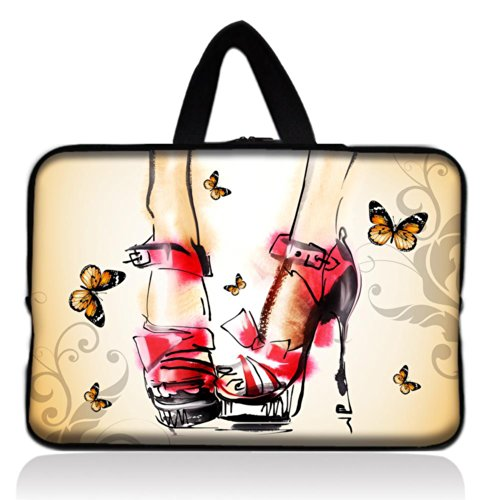 Crystal High Shoes Universal 7 ~ 8 inch Tablet Portable Neoprene Zipper Carrying Sleeve Case Bag