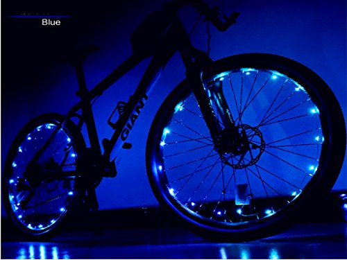 LED Bicycle Strip Light Bike Rim Lights Waterproof Perfect for Safety and Fun(Blue) (Perfect Mount Macro)