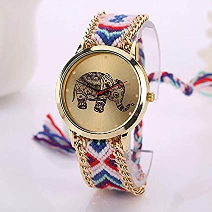 ArMordy - Famous Women Watches Fashion Design Elephant Leather Bracelet Watches Casual Wrist Watches Ladies Clock