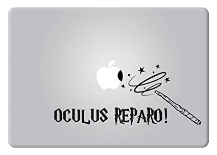 Oculus relparo incantation harry potter variant of the mending charm apple macbook decal vinyl sticker apple