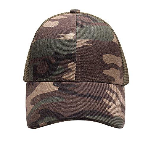 18684402ffb Alljoin Ponytail Baseball Cap Hat Ponycap Messy High Bun Ponytail  Adjustable Mesh Trucker Baseball Cap Hat