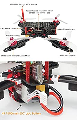 ARRIS X220 220mm RC Quadcopter FPV Racing Drone RTF with Radiolink AT9S Transmitter