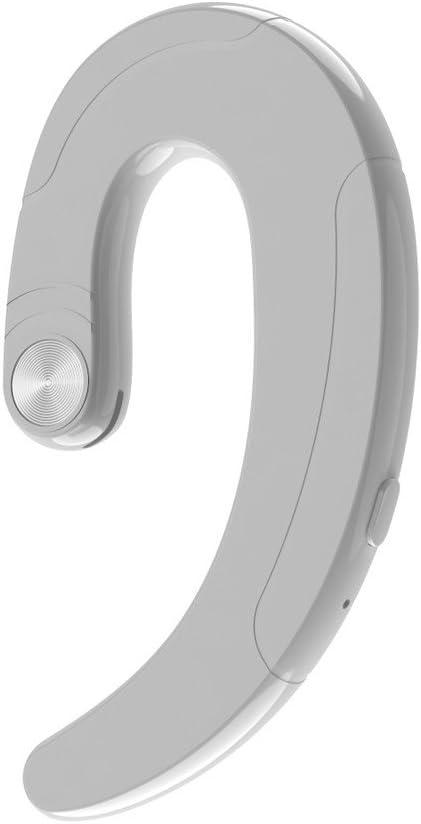 YWLINK ConduccióN óSea InaláMbrico BT 4.2 Auriculares EstéReo Deportes Auriculares Universal Auricular Bluetooth Bonito Regalo MicróFono ReduccióN De Ruido(Blanco)