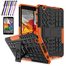 LG G Pad X 8.0 / G Pad III 8.0 Case, Mignova Hybrid Protection Cover Built-In Kickstand Skin Case For LG G Pad X 8.0 / LG GPad III 3 8.0 Inch Tablet + Screen Protector Film and Stylus Pen (Orange)