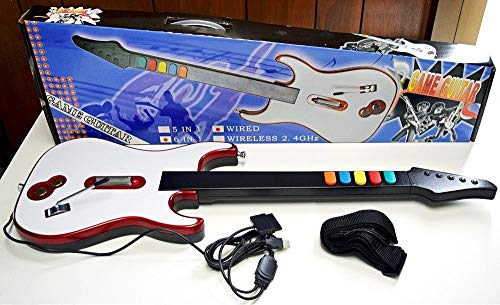 - WIRED Guitar Hero & Rock Band 3 2 1 4 Gaming Controller for Sony Playstation 2, 3, and 4 or PC - PS3 PS2 PS4