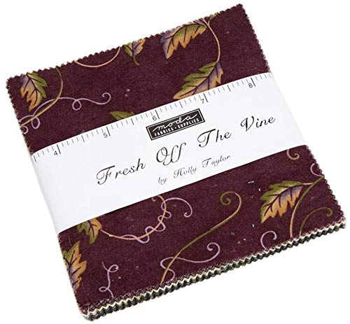 "Fresh Off The Vine Charm Pack by Holly Taylor; 42-5"" Precut Fabric Quilt Squares"