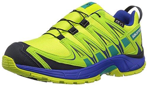 Salomon Unisex-Kids XA Pro 3D CSWP J Trail Running Shoe, Acid Lime, 4 M US Big - Lime Pro