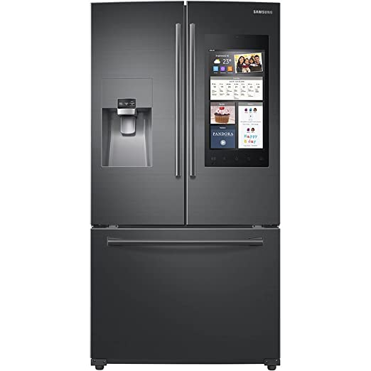Amazon.com: Samsung Black Stainless 24 Cu Ft Family Hub French Door ...