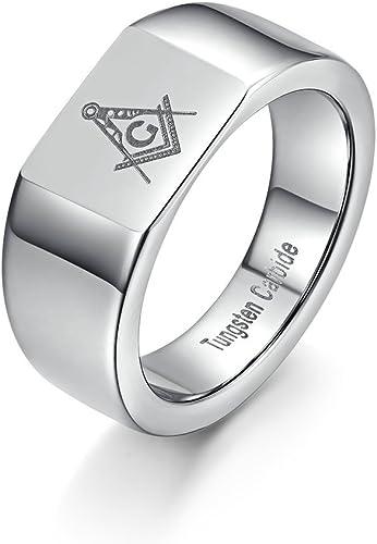 Tianyi Men S Freemason Masonic Laser Tungsten Carbide Wedding Band
