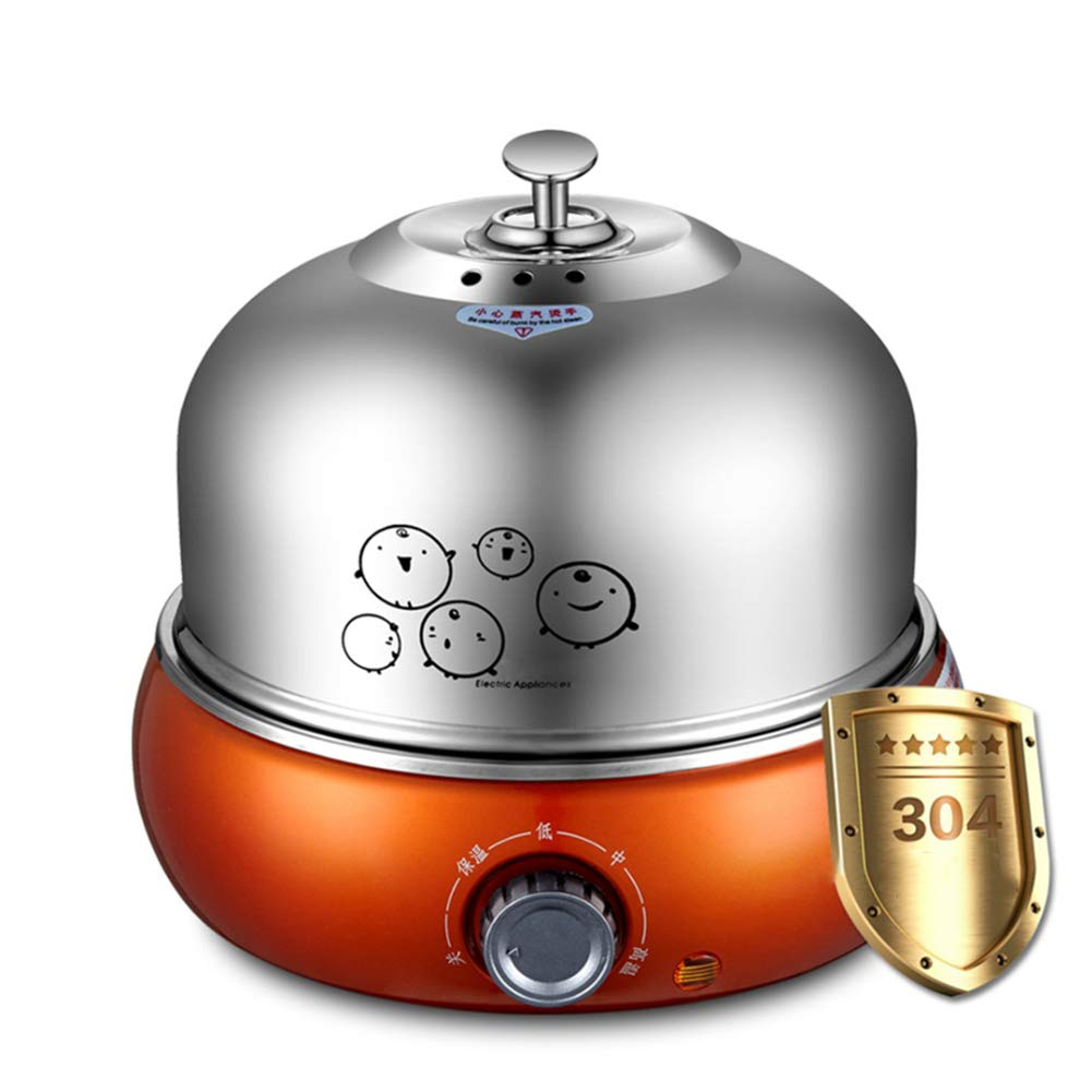 Full Stainless Steel Egg Cooker 9 Egg Capacity Electric Egg Cooker for Hard Boiled Eggs with Auto Shut Off Easy Clean Noise-Free