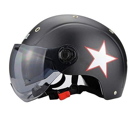 YSHNuevos Cascos De Moto Moto Casque para Hombres Y Mujeres Casco De Moto con Doble Lente