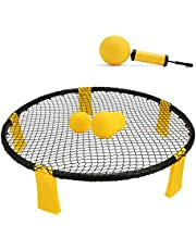 Feishibang Spike Game Ball —Include Playing Round Net,3 Balls,Carrying Bag and Rules Set Kit for Fitness Equipment -Played Outdoors,Indoors,Beach, Yard, Park