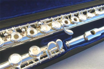 New OPEN HOLES Silver Concert Band flute w/Case.Approved+Warranty. by other