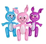 6 Easter Bunny 24'' BUNNIES INFLATE Blow Up Party Decoration
