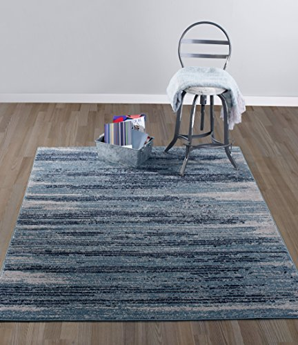 Diagona Designs Contemporary Stripes Design 5' by 7' Area Rug, 5'3