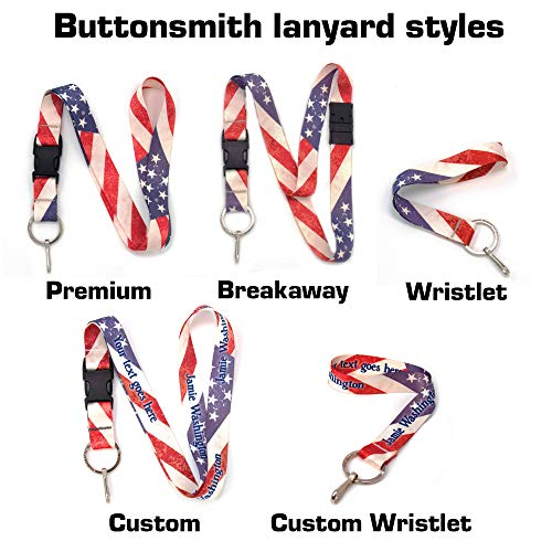 Buttonsmith Old Glory Flag Premium Lanyard with Buckle and Flat Ring - Made in USA by Buttonsmith (Image #2)