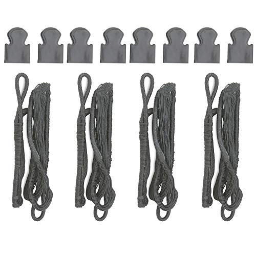 KingsArchery Crossbow Pistol String 80 lb Replacement and Caps (4 Pack)