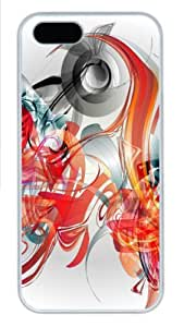 Creative Illustration abstract graphics PC Case Cover for iPhone 5 and iPhone 5s ¡§C White