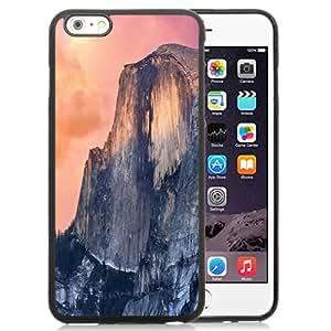 Beautiful Unique Designed iPhone 6 Plus 5.5 Inch Phone Case With OS X Yosemite Cliff_Black Phone Case