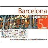 Barcelona PopOut Map - handy, pocket-size pop up Barcelona city map (Popout Maps)