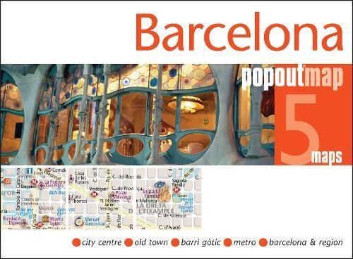 Barcelona PopOut Map (Popout Maps)