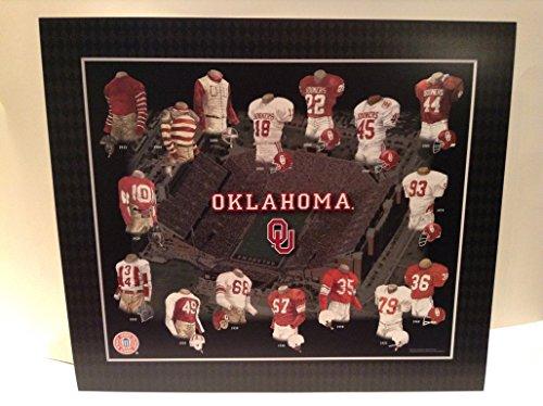 Framed Evolution History Oklahoma Sooners Uniforms Print