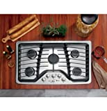 GE-PGP976SETSS-Profile-36-Stainless-Steel-Gas-Sealed-Burner-Cooktop