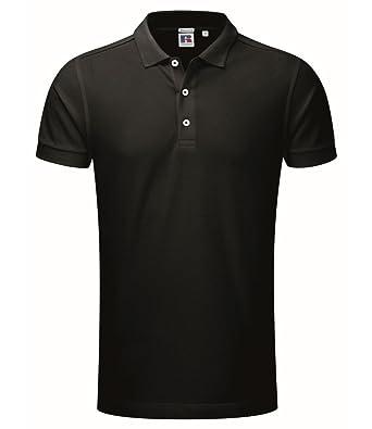 Russell - Polo elástico (talla XXL), color negro: Amazon.es: Ropa ...