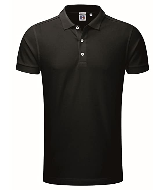 Russell - Polo elástico (talla XXL), color negro: Amazon.es: Ropa ...