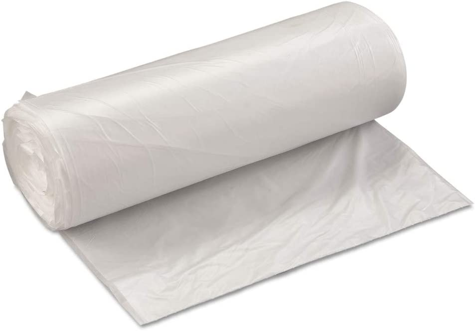 60 Gallon Natural Roll Garbage Can Liner 19 Mic