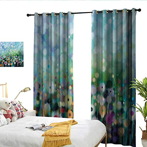 Sun Tao Flower Dandelion Seeds in Air Splashes Pollination Time Mother Earth Growing Giving Life Multicolor Custom Curtains
