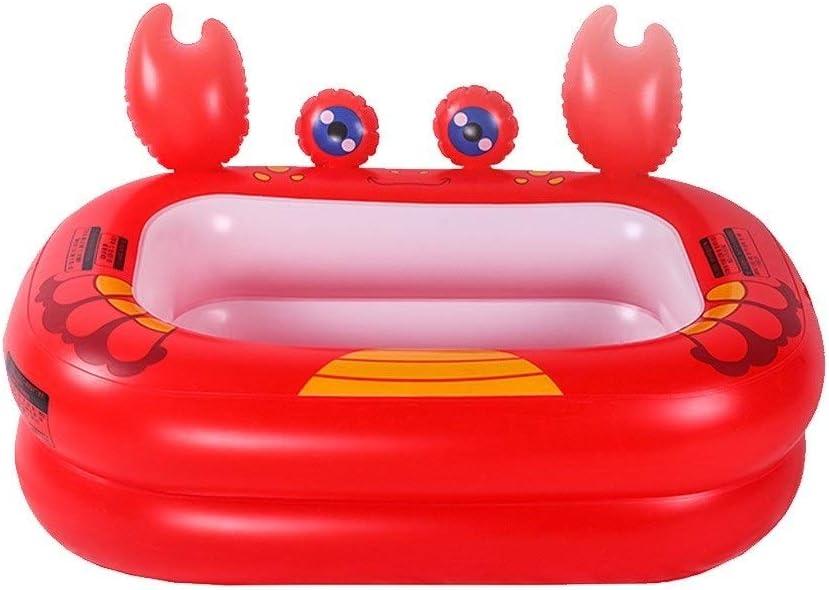 Bañera Piscina para Niños Aislamiento Baño De Burbujas Inflable ...