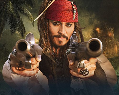 Johnny Depp Pirates of the Caribbean with Pistols 8x10 (Pirates Of The Caribbean Pistols)