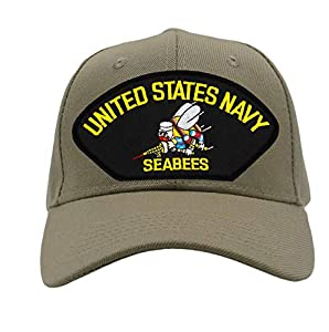 Patchtown US Navy Seabees Hat/Ballcap Adjustable One Size Fits Most from Patchtown