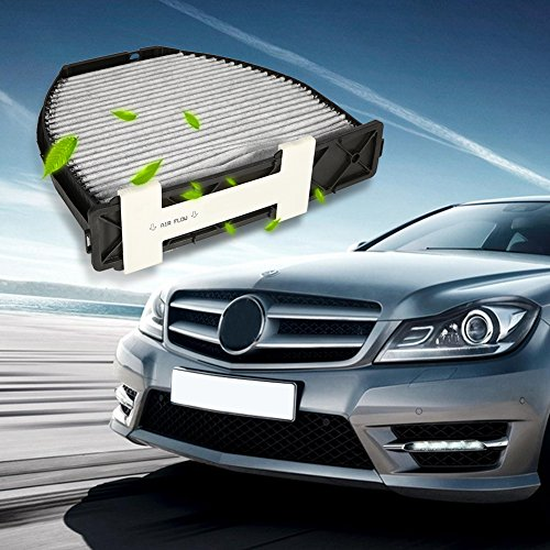 Qiilu Car Cabin Air Filter For Mercedes Benz AMG GT S C250 C300 Includes Activated Carbon (CUK29005) by Qiilu (Image #2)