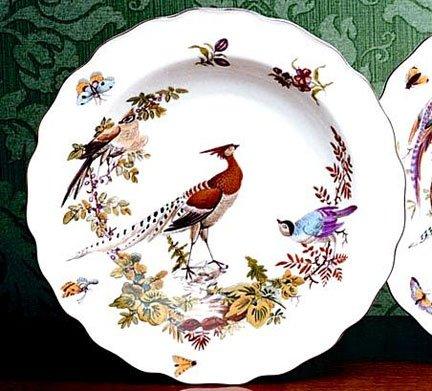 Mottahedeh Chelsea Bird Rim Soup Plates (Set of 4)