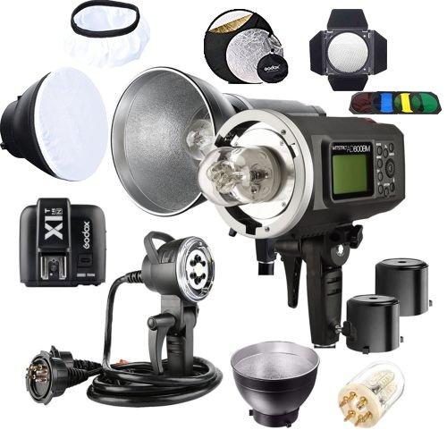 - Godox 2pcs AD600BM Bowens Mount 600Ws GN87 1/8000 HSS Outdoor Flash Strobe Monolight with X1N Trigger/AD-H1200B 1200W Flash Head & Bulb Flash Tube/ Standard Reflector & diffuser/ Barn Door/ Reflector